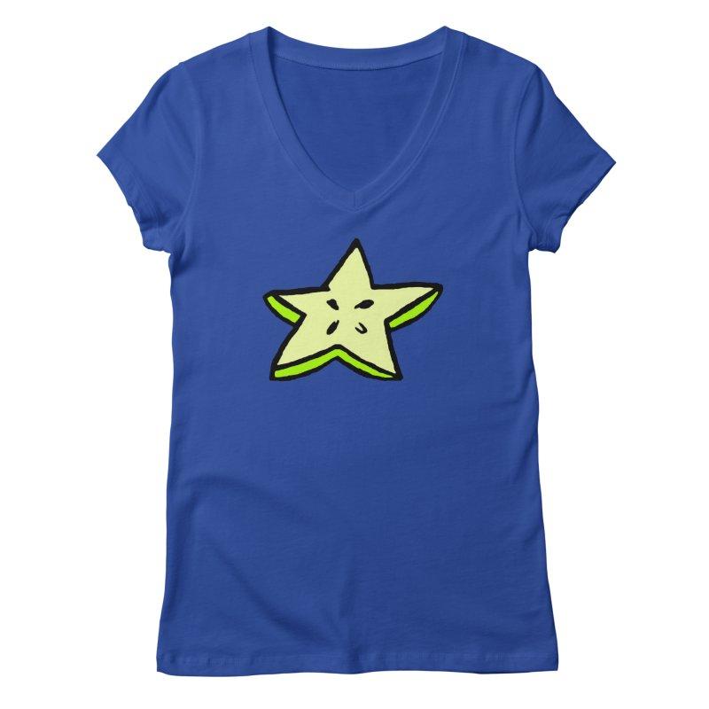 StarFroot Logo Full Color Women's Regular V-Neck by Strange Froots Merch
