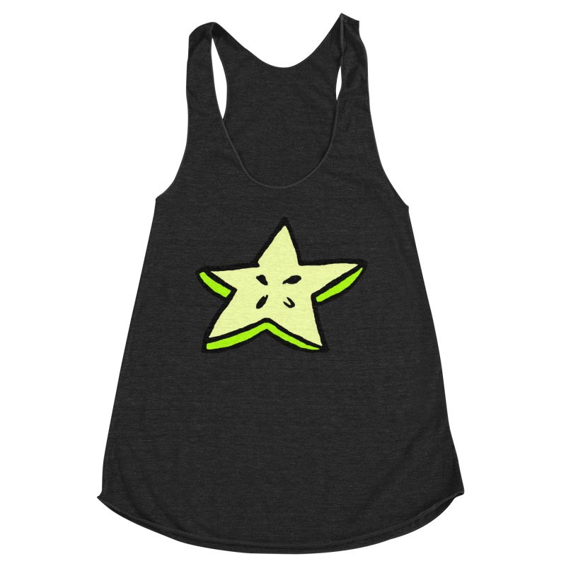 StarFroot Logo Full Color Women's Racerback Triblend Tank by Strange Froots Merch