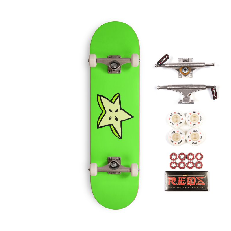 StarFroot Logo Full Color Accessories Complete - Pro Skateboard by Strange Froots Merch
