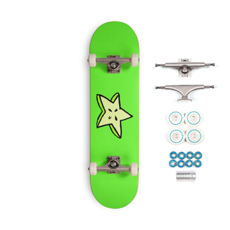 StarFroot Logo Full Color Accessories Complete - Basic Skateboard by Strange Froots Merch