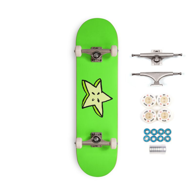 StarFroot Logo Full Color Accessories Complete - Premium Skateboard by Strange Froots Merch