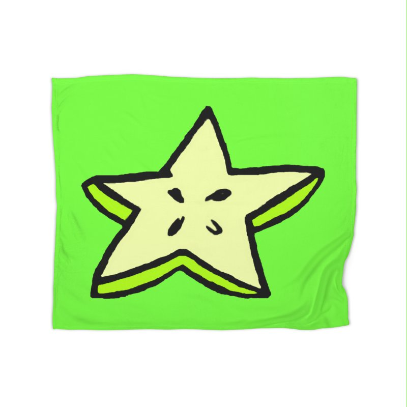 StarFroot Logo Full Color Home Fleece Blanket Blanket by Strange Froots Merch