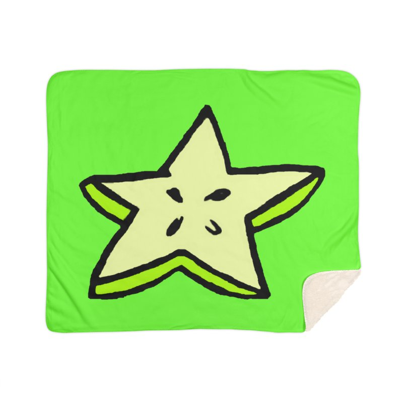 StarFroot Logo Full Color Home Sherpa Blanket Blanket by Strange Froots Merch