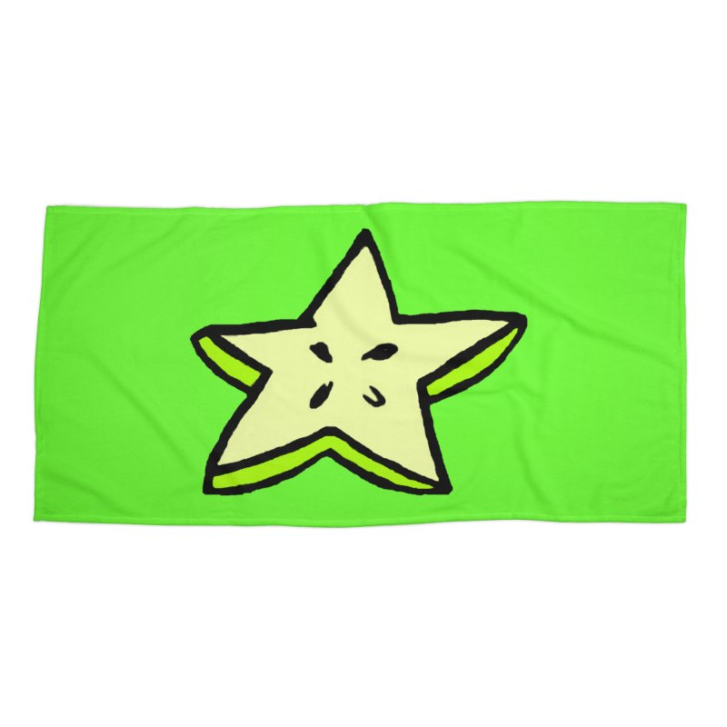 StarFroot Logo Full Color Accessories Beach Towel by Strange Froots Merch