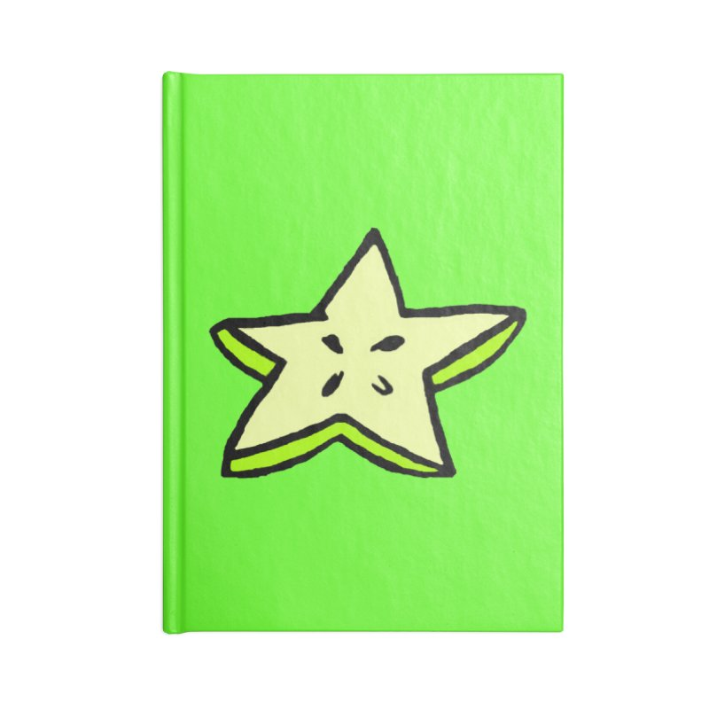 StarFroot Logo Full Color Accessories Lined Journal Notebook by Strange Froots Merch