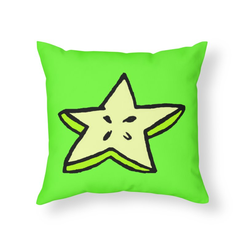StarFroot Logo Full Color Home Throw Pillow by Strange Froots Merch