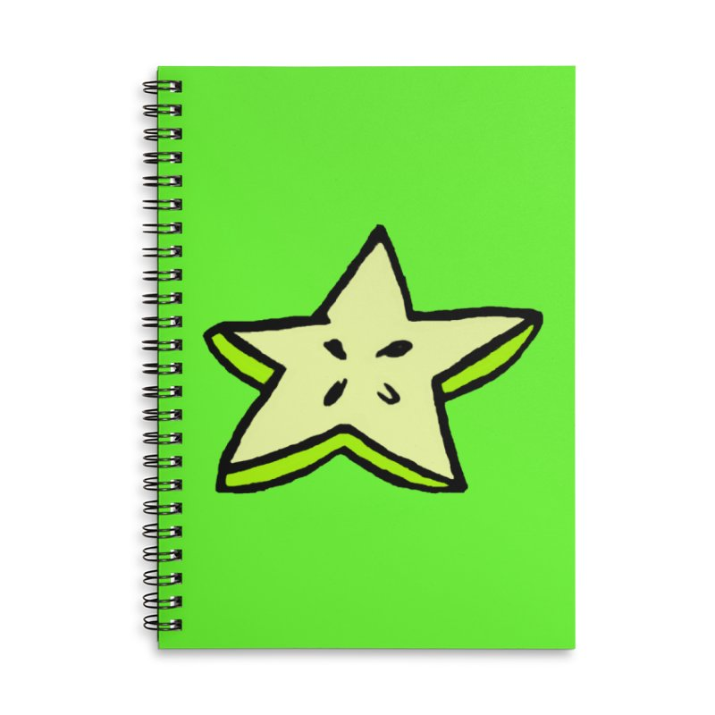 StarFroot Logo Full Color Accessories Lined Spiral Notebook by Strange Froots Merch