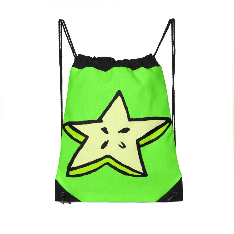 StarFroot Logo Full Color Accessories Drawstring Bag Bag by Strange Froots Merch