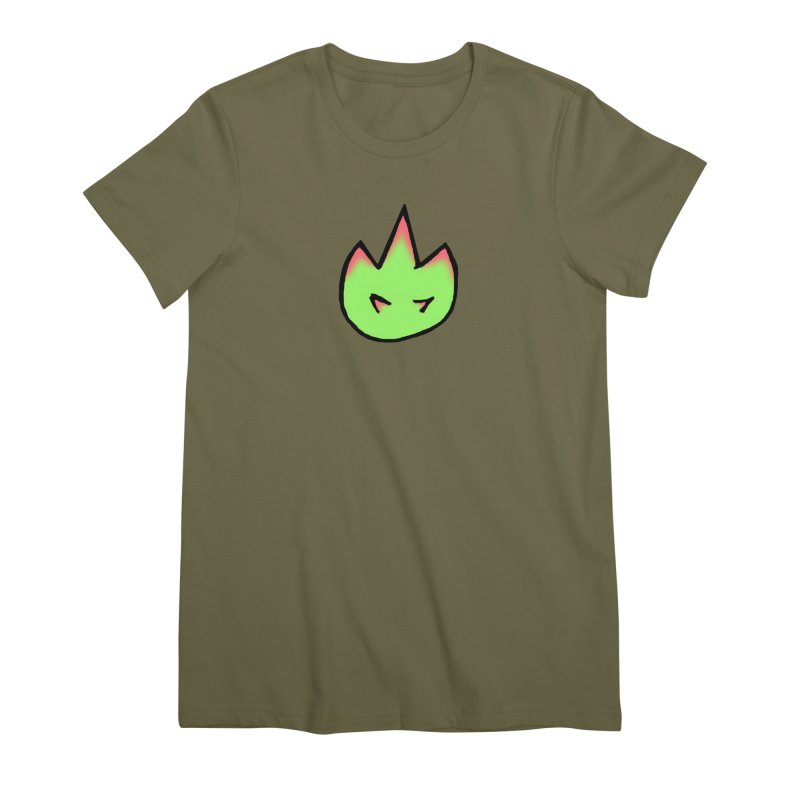 DragonFroot Logo Full Color Women's Premium T-Shirt by Strange Froots Merch