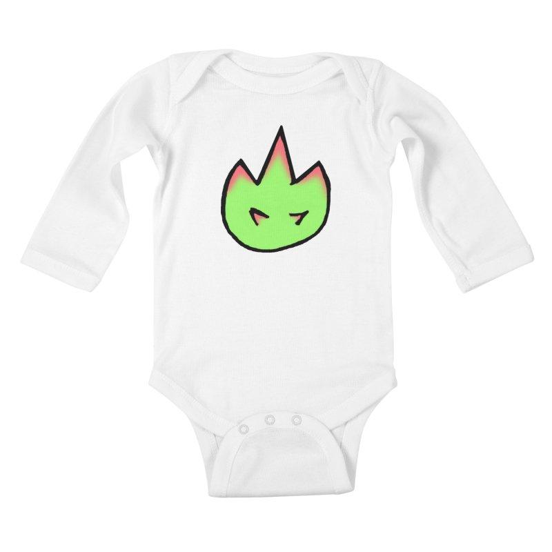 DragonFroot Logo Full Color Kids Baby Longsleeve Bodysuit by Strange Froots Merch