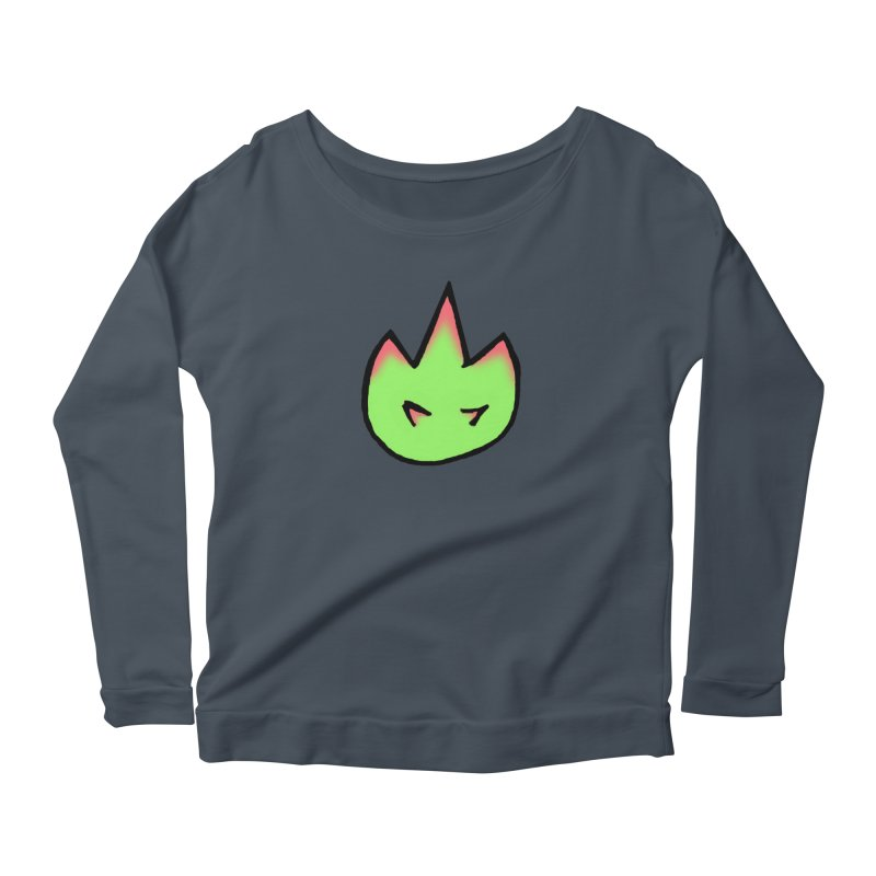 DragonFroot Logo Full Color Women's Scoop Neck Longsleeve T-Shirt by Strange Froots Merch