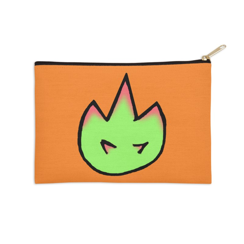 DragonFroot Logo Full Color Accessories Zip Pouch by Strange Froots Merch