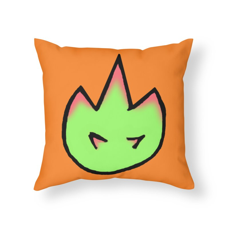 DragonFroot Logo Full Color Home Throw Pillow by Strange Froots Merch
