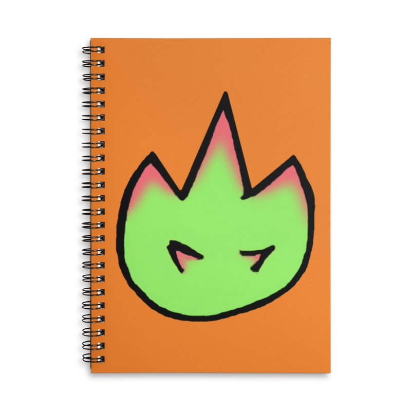 DragonFroot Logo Full Color Accessories Lined Spiral Notebook by Strange Froots Merch