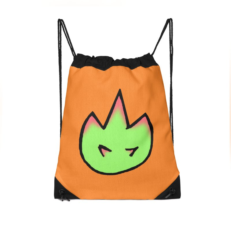 DragonFroot Logo Full Color Accessories Drawstring Bag Bag by Strange Froots Merch