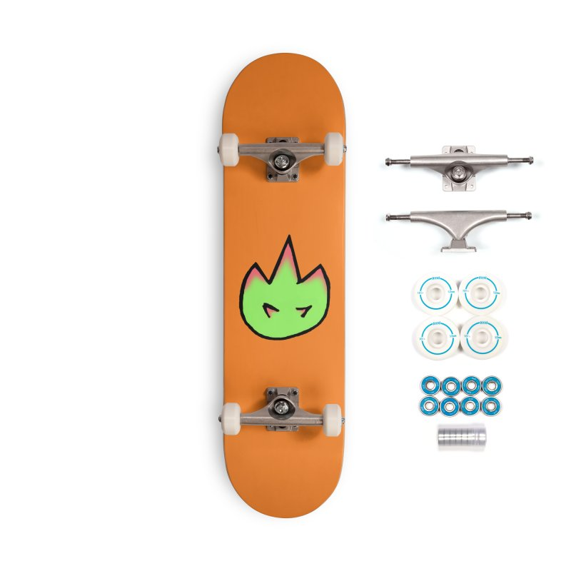 DragonFroot Logo Full Color Accessories Complete - Basic Skateboard by Strange Froots Merch