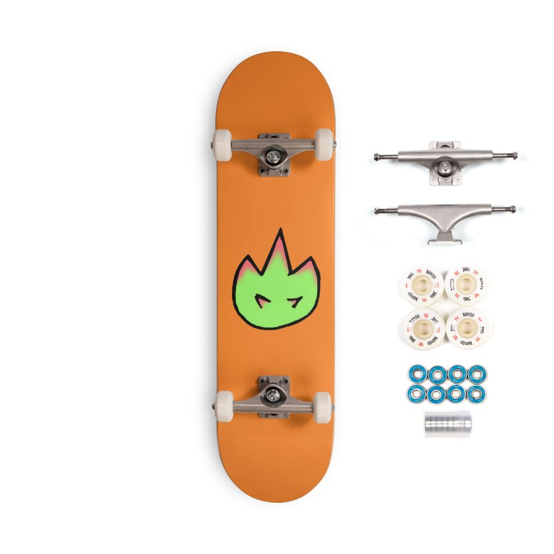 DragonFroot Logo Full Color Accessories Complete - Premium Skateboard by Strange Froots Merch