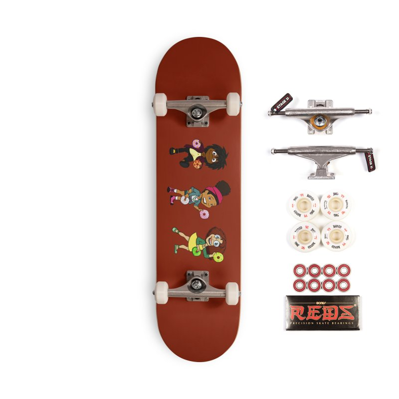 Strange Froots Chibis Accessories Complete - Pro Skateboard by Strange Froots Merch