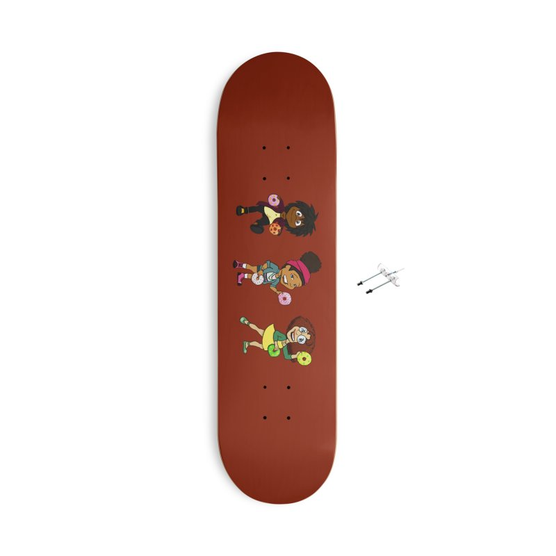 Strange Froots Chibis Accessories With Hanging Hardware Skateboard by Strange Froots Merch
