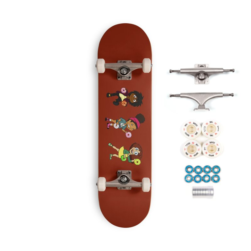Strange Froots Chibis Accessories Complete - Premium Skateboard by Strange Froots Merch
