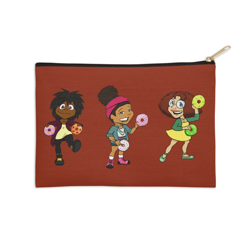 Strange Froots Chibis Accessories Zip Pouch by Strange Froots Merch