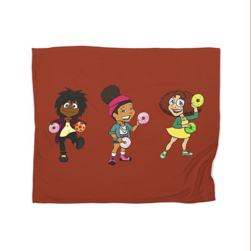Strange Froots Chibis Home Fleece Blanket Blanket by Strange Froots Merch