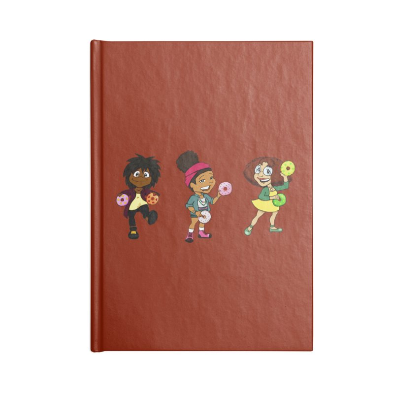 Strange Froots Chibis Accessories Lined Journal Notebook by Strange Froots Merch