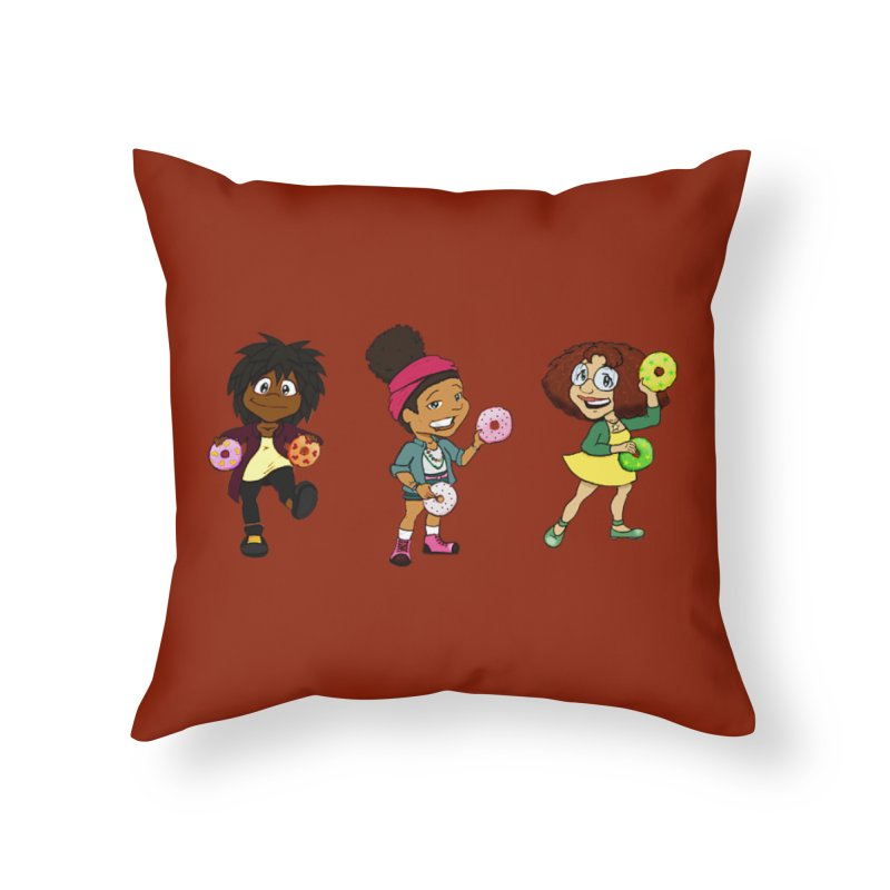 Strange Froots Chibis Home Throw Pillow by Strange Froots Merch