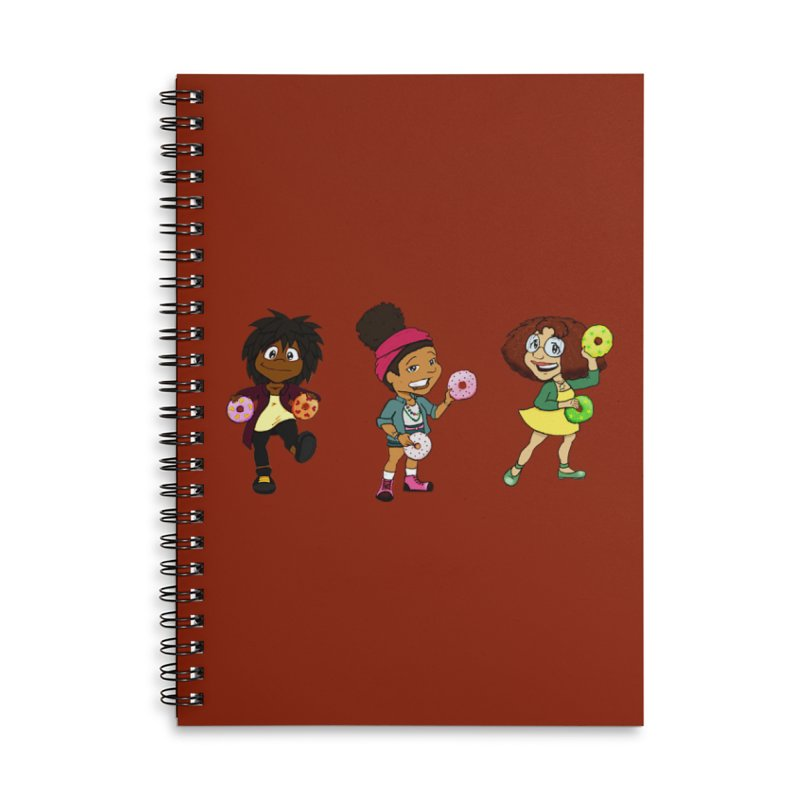 Strange Froots Chibis Accessories Lined Spiral Notebook by Strange Froots Merch