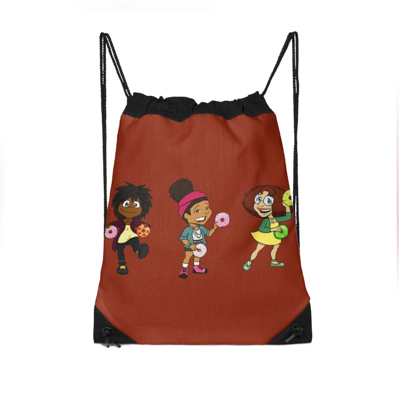 Strange Froots Chibis Accessories Drawstring Bag Bag by Strange Froots Merch