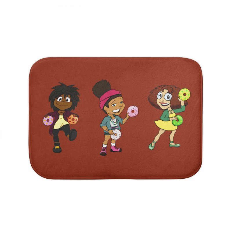 Strange Froots Chibis Home Bath Mat by Strange Froots Merch