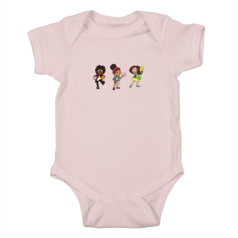 Strange Froots Chibis Kids Baby Bodysuit by Strange Froots Merch