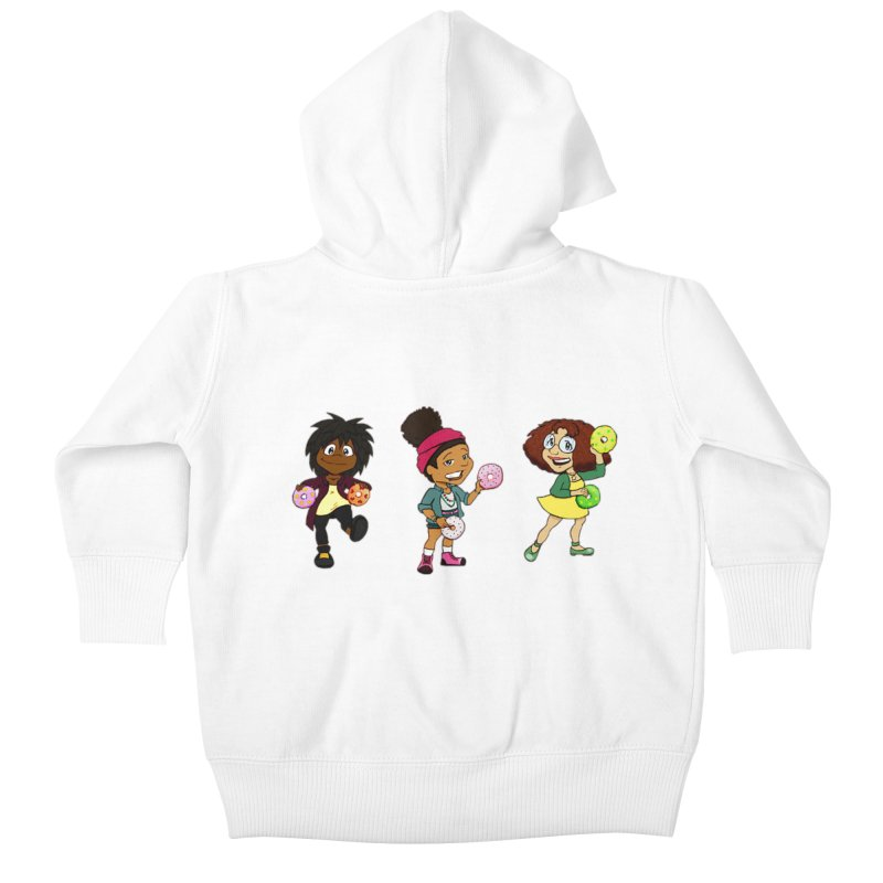 Strange Froots Chibis Kids Baby Zip-Up Hoody by Strange Froots Merch
