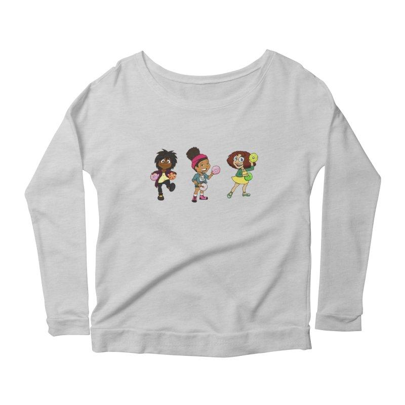 Strange Froots Chibis Women's Scoop Neck Longsleeve T-Shirt by Strange Froots Merch