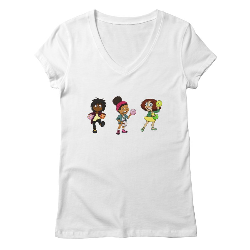 Strange Froots Chibis Women's Regular V-Neck by Strange Froots Merch