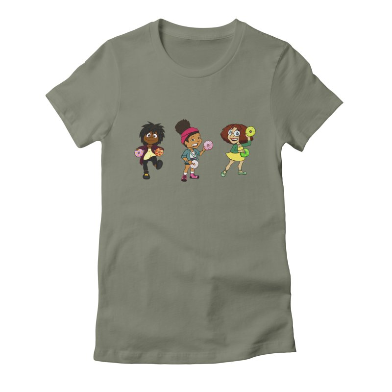 Strange Froots Chibis Women's Fitted T-Shirt by Strange Froots Merch