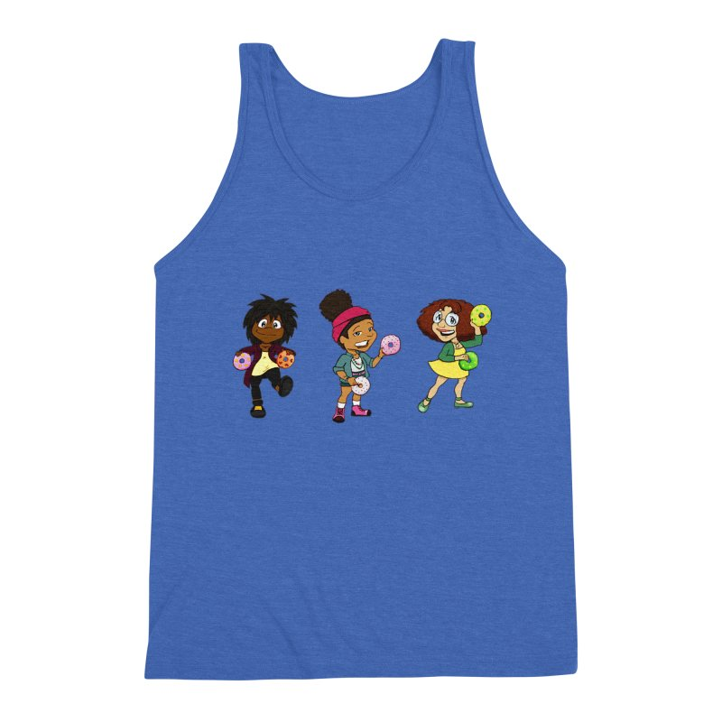Strange Froots Chibis Men's Triblend Tank by Strange Froots Merch