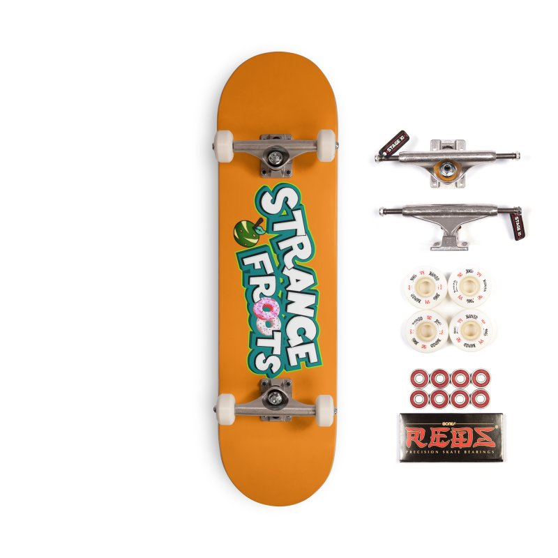 Strange Froots Cereal Logo Accessories Complete - Pro Skateboard by Strange Froots Merch