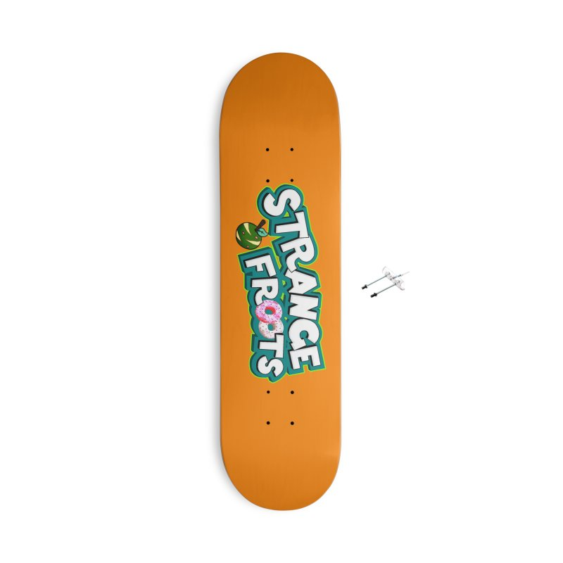 Strange Froots Cereal Logo Accessories With Hanging Hardware Skateboard by Strange Froots Merch
