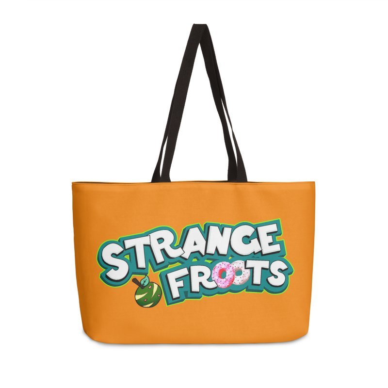 Strange Froots Cereal Logo Accessories Weekender Bag Bag by Strange Froots Merch