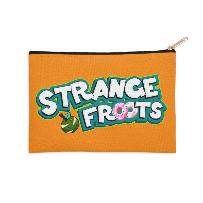 Strange Froots Cereal Logo Accessories Zip Pouch by Strange Froots Merch