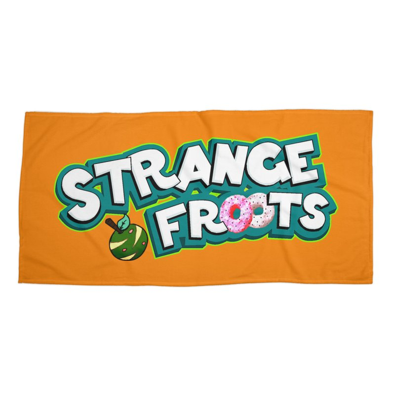 Strange Froots Cereal Logo Accessories Beach Towel by Strange Froots Merch