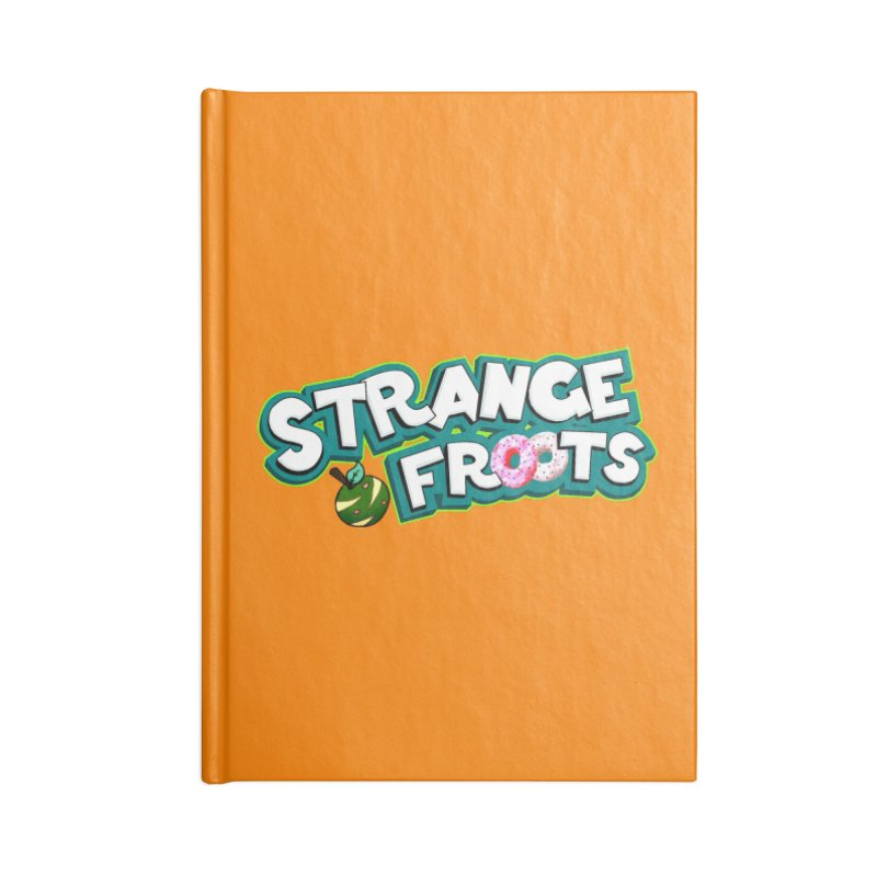 Strange Froots Cereal Logo Accessories Lined Journal Notebook by Strange Froots Merch