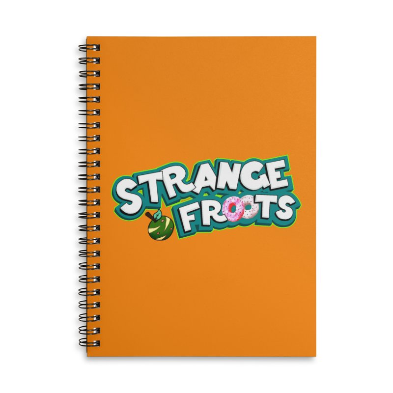 Strange Froots Cereal Logo Accessories Lined Spiral Notebook by Strange Froots Merch