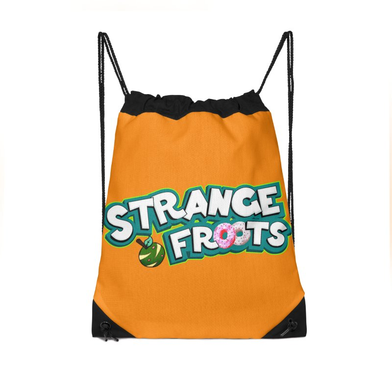 Strange Froots Cereal Logo Accessories Drawstring Bag Bag by Strange Froots Merch
