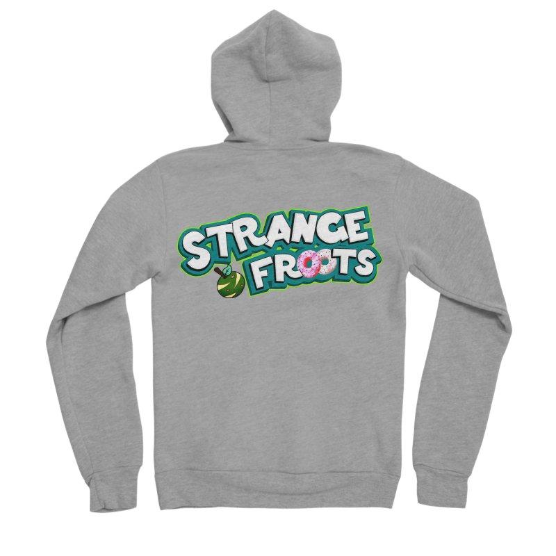 Strange Froots Cereal Logo Women's Sponge Fleece Zip-Up Hoody by Strange Froots Merch