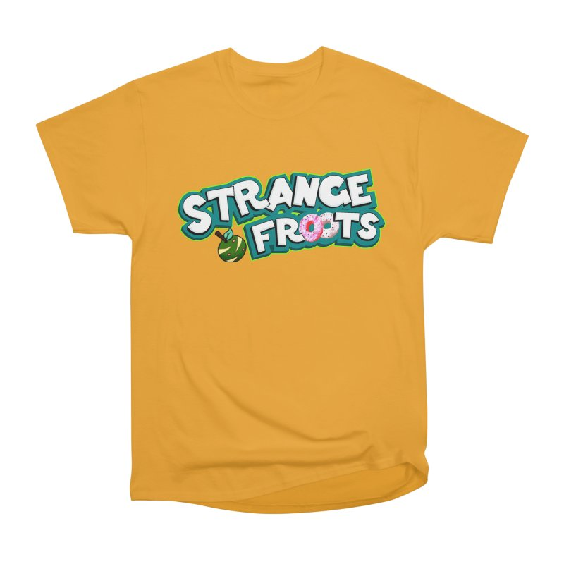 Strange Froots Cereal Logo Women's Heavyweight Unisex T-Shirt by Strange Froots Merch