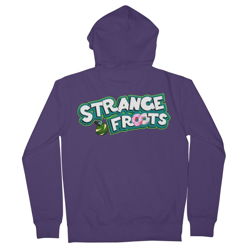 Strange Froots Cereal Logo Women's French Terry Zip-Up Hoody by Strange Froots Merch