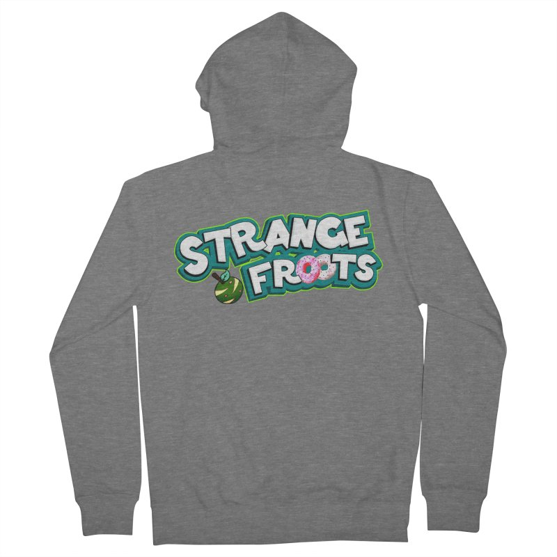 Strange Froots Cereal Logo Men's French Terry Zip-Up Hoody by Strange Froots Merch