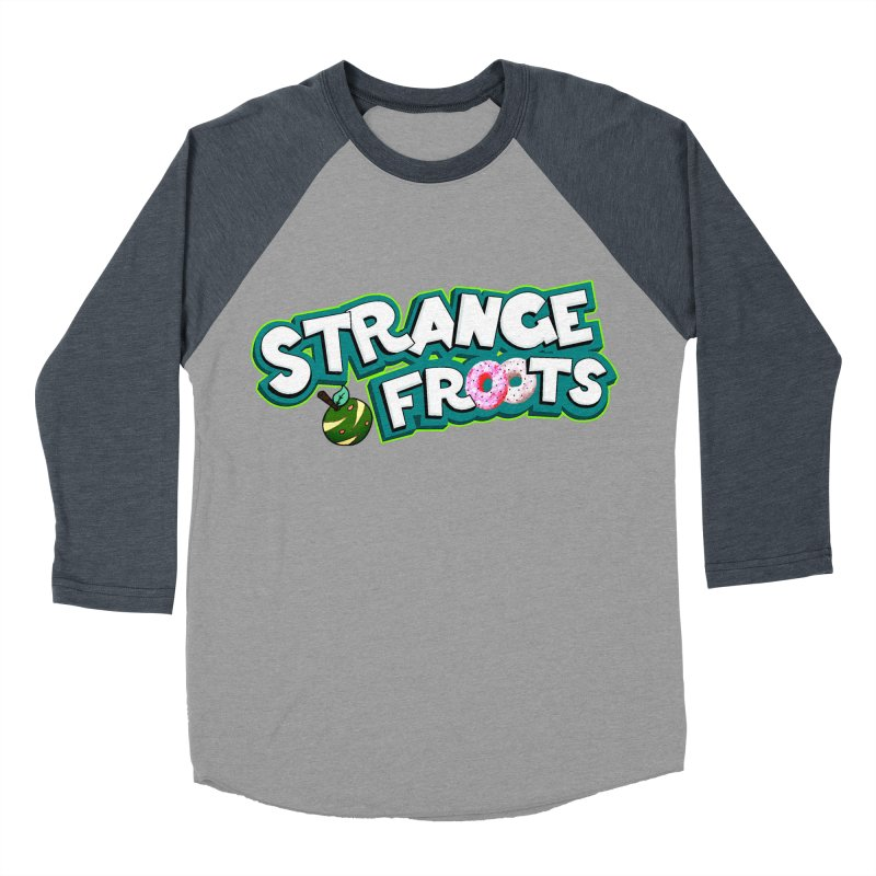 Strange Froots Cereal Logo Men's Baseball Triblend Longsleeve T-Shirt by Strange Froots Merch